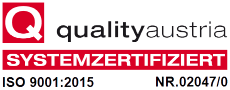 Quality Austria Systemzertifizierung ISO 9001:2015