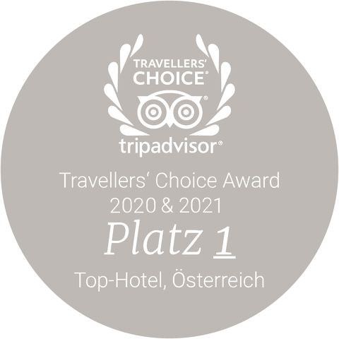 Travellers' Choice Award 2020 + 2021 Platz 1